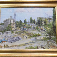 PANTELI STANCIU (1901 – 1981), SANTIER IN BUCURESTI - Pictor roman