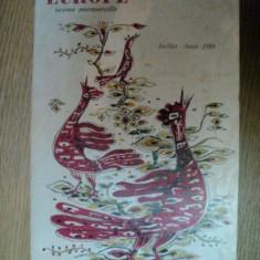 EUROPE, REVUE MENSUELLE, 1959 - Carte Fabule
