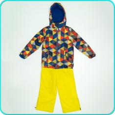 Costum tip salopeta ski—iarna, impermeabil, C&A → copii | 6—7 ani | 122 cm, Marime: Alta, Culoare: Din imagine, Unisex