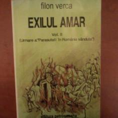 EXILUL AMAR, VOL. II de FILON VERCA - Roman