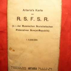 Harta mare RSFSR (Rusia), 1/6 000 000, 1922  Autor Artaria ,Viena