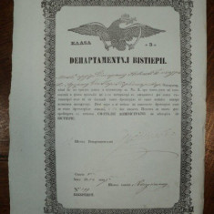 Brevet de negustor din breasla caramidarilor pe numele Mosk Arghir din Pitesti, 1854 - Diploma/Certificat