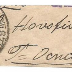 No(02)timbre-Romania 1898- banda pentru ziare -spic de grau, Stampilat
