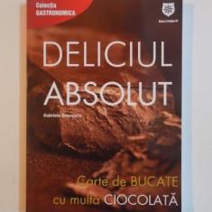 DELICIUL ABSOLUT. CARTE DE BUCATE CU MULTA CIOCOLATA de GABRIELA BOERESCU 2013 - Carte Retete traditionale romanesti