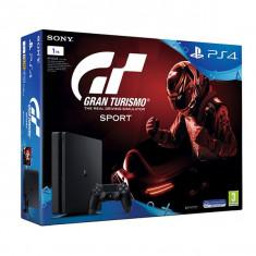 Consola SONY PlayStation 4 Slim (PS4 Slim) 1 TB, negru + Gran Turismo Sport