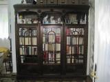 Biblioteca-birou-jilt-secretaire stil Brancovenesc, stejar 1905