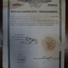 Teleorman, Brevet de mester obisnuit din breasla croitorilor pe numele Petre K Postelnicu, Bucuresti 1846 - Diploma/Certificat