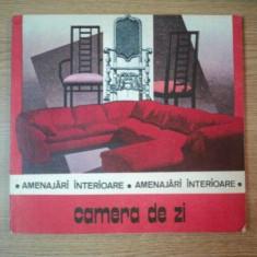 AMENAJARI INTERIOARE . CAMERA DE ZI de DANIELA RADULESCU, 1988 - Carte Arhitectura