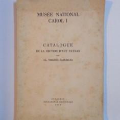 MUSEE NATIONAL CAROL I , CATALOGUE DE LA SECTION D'ART PAYSAN de AL. TZIGARA SAMURCAS , BUC. 1937