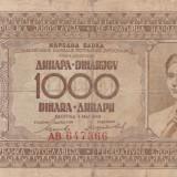 Yugoslavia  1000 Dinara  1.05.1946       P.67a     VG