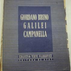 GIORDANO BRUNO GALILEI CAMPANELLA, 1951 - Carte Psihologie