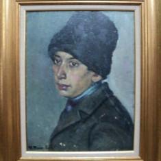 MARIA MANEA AULEB, PORTET DE TIGAN, TINERIMEA ARTISTICA 1934 - Pictor roman