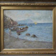 E. Esposito, Pescari la malul marii - Pictor roman