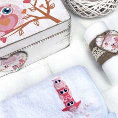 Happy Owls – Set Trusou Botez Personalizat Bufnite