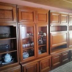 Vand mobila lemn - Biblioteca living