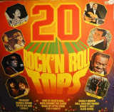 20 Rock'n Roll Tops (1974, WEA) disc vinil LP compilatie rock'n'roll