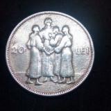 ROMANIA moneda 20 lei 1930 HORA - LONDRA Royal Mint foarte frumoasa