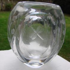 Raritate!!! Impresionanta vaza din cristal vechi suedez, anii 1940
