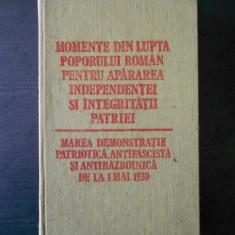 MOMENTE DIN LUPTA POPORULUI ROMAN PENTRU APARAREA INDEPENDENTEI SI INTEGRITATII