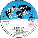 Brian Ice - Night Girl (1987, Memory Rec.) disc vinil Maxi Single italo-disco