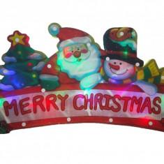 Decoratiune luminoasa LED, 220 v, 43x22 cm, Merry Christmas, premium - Instalatie electrica Craciun