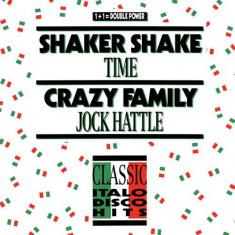 Time / Jock Hattle - Shaker Shake / Crazy... disc vinil Maxi Single italo-disco - Muzica Dance