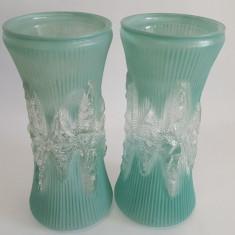 SET VAZE STICLA VECHI ROMANESTI - 25 CM INALTIME - Vaza sticla