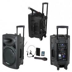 Boxa portabila activa 12 inch/30cm, 700W, Bluetooth, USB, karaoke 2 microfoane - Mixere DJ