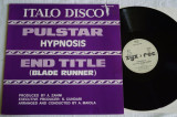 Hypnosis - Pulstar / End Title (1983, ZYX) disc vinil Maxi Single italo-disco