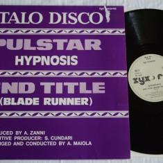 Hypnosis - Pulstar / End Title (1983, ZYX) disc vinil Maxi Single italo-disco - Muzica Dance