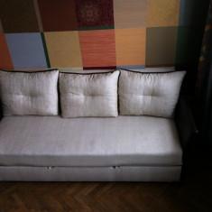 Canapea extensibila eleganta tapitata bej cu maro, Canapele extensibile