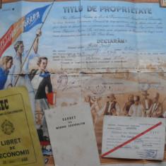 Lot titlu de proprietate 1945 + 3 doc. pe acelasi nume