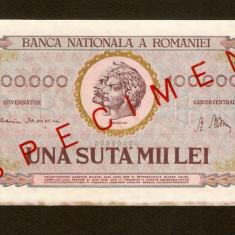 ROMANIA - 100.000 ( 100000 ) Lei  SPECIMEN AUNC 1947 . APROAPE  NECIRCULATA   .