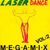 Laserdance - Megamix Vol. 2 (1989) disc vinil Maxi Single italo-disco