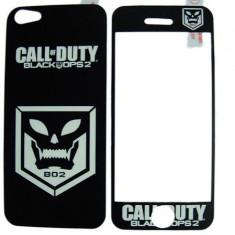 Folie protectie cu design iPhone 5 - Call of Duty Black Ops 2 ( fata + spate ) - Folie de protectie Apple