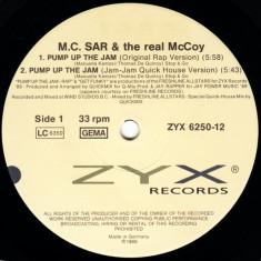 M.C. Sar & The Real McCoy - Pump Up The Jam - Rap '89 disc vinil Maxi Single
