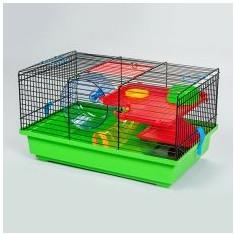 Cuşcă pentru hamsteri, cu tunel - TEDDY LUX - Cusca, cotet, tarc si colivie