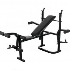 SET Bancă fitness, halteră 60 kg și set gantere 30 kg