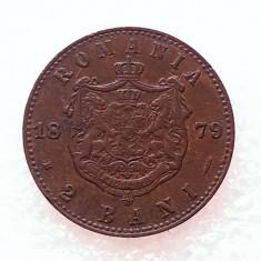 2 BANI 1879-CUPRU-CAROL I DOMN - Moneda Romania