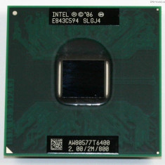 Intel Core 2 Duo Mobile T6400 AW80577GG0412MA socket p PGA478 Dell Inspiron 1525 - Procesor laptop