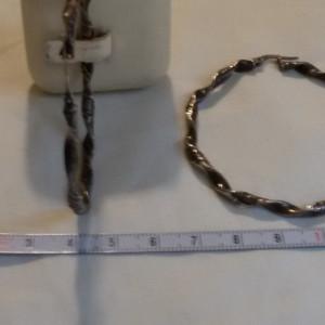 CERCEI argint TRIBALI mari ROTUNZI masivi executati manual prin RASUCIRE vintage