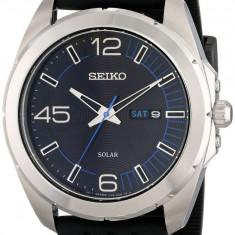 Seiko SNE277 Solar ceas barbati nou 100% original. Garantie. Livrare rapida. - Ceas barbatesc Seiko, Casual, Quartz, Otel, Cauciuc, Baterie solara