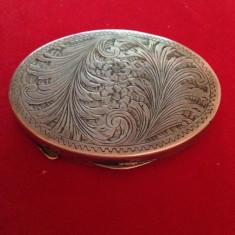 Pudriera Dama Argint 0.800 Art Deco Gravata 62.74 Grame - Tabachera veche