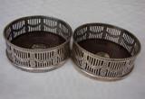Doua suporturi englezesti SHEFFIELD placate cu argint in stil Art Deco