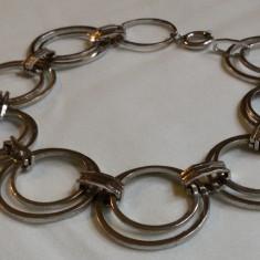 BRATARA argint CERCURI multiple INLANTUITE superba MODERNISTA eleganta IMPECABIL, Femei