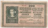 AUSTRIA UNGARIA 200 KRONEN KORONA 1918 U