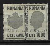 Timbru pentru facturi-borderouri 1000 lei-216, Stampilat