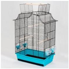 Papagájkalitka GRETA CABRIO fekete - 49 x 30 x 65 cm - Papagal