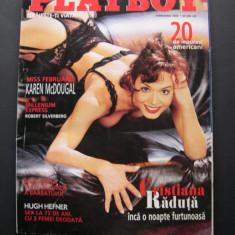 Playboy  Romania  2000  februarie.  Pictorial  Cristiana Raduta,  Karen McDougal