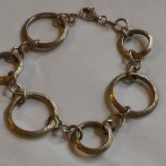 BRATARA argint din INELE de diverse marimi INLANTUITE delicata MODERNISTA, Femei